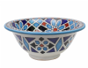 Moroccan Washbasin Sink Ceramic Wash Basin Hand Painted 35cm  13.8'' Free Waste Included Ref. SW701